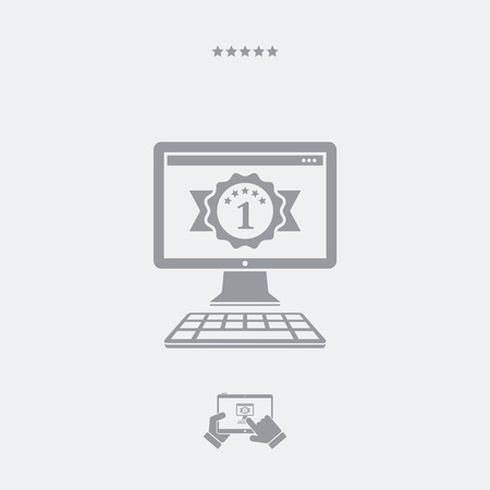 operative system: Best pc flat icon Illustration