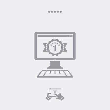 operative: Best pc flat icon Illustration