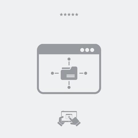 relate: Network box concept Illustration