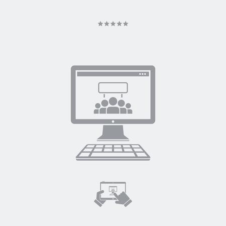 web: Web protest flat icon