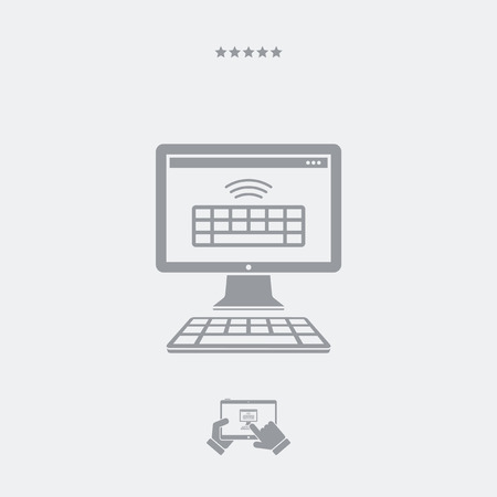 category: Wireless keyboard flat icon Illustration