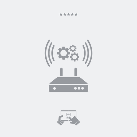 modem: Router or modem setting icon Illustration