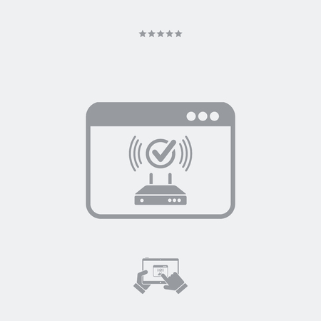 ethernet: Working connection router icon