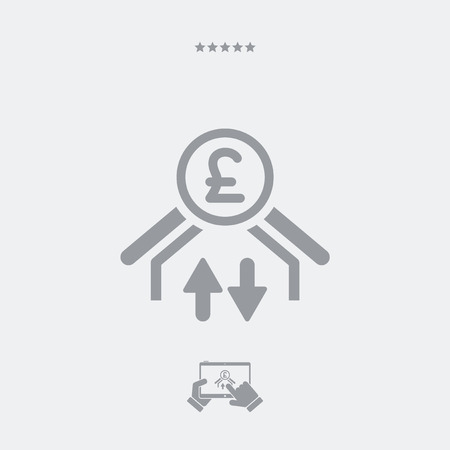 stock exchange brokers: Money transfer icon - Sterling Illustration
