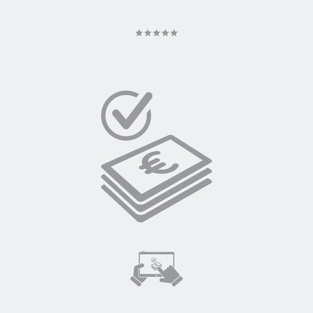 european alps: Checking payment icon - Euro Illustration