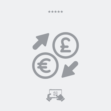 stock exchange brokers: EuroSterling - Foreign currency exchange icon Illustration