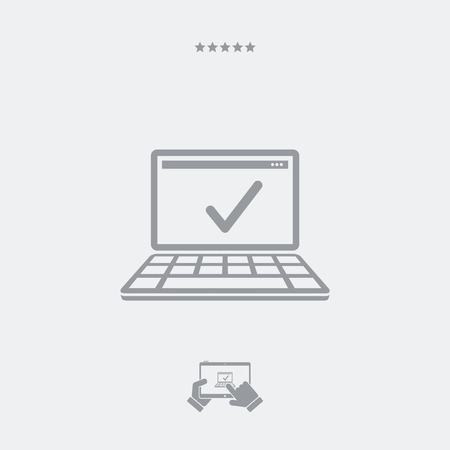 approved: Approved computer flat icon