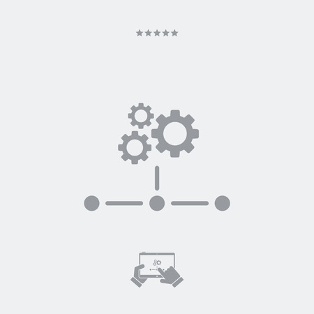 nas: Network icon - Working gears