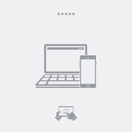 series: Devices series flat icon Illustration