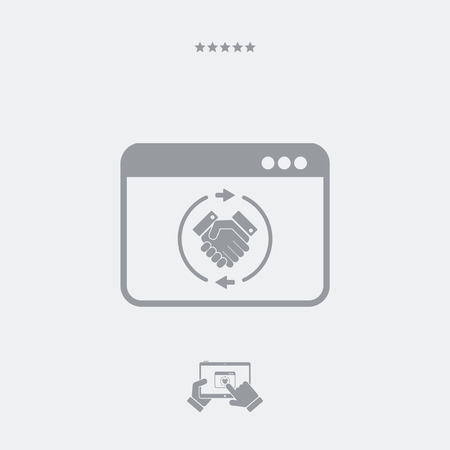 indent: Web agreement flat icon