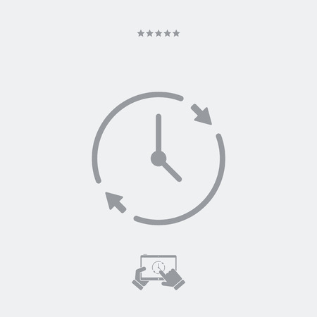 spending: Time spending flat icon Illustration