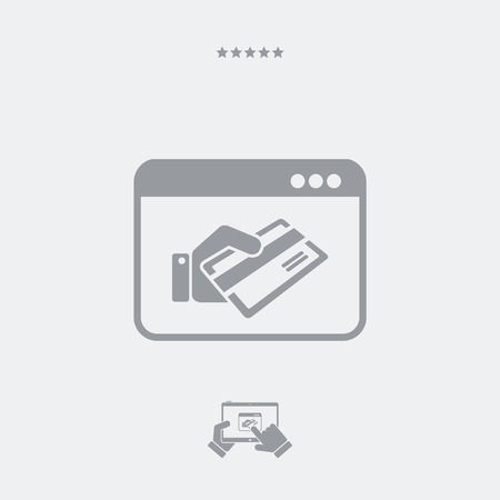 repayment: Credit card web payment Illustration