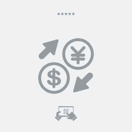 foreign currency: DollarYuan - Foreign currency exchange icon Illustration
