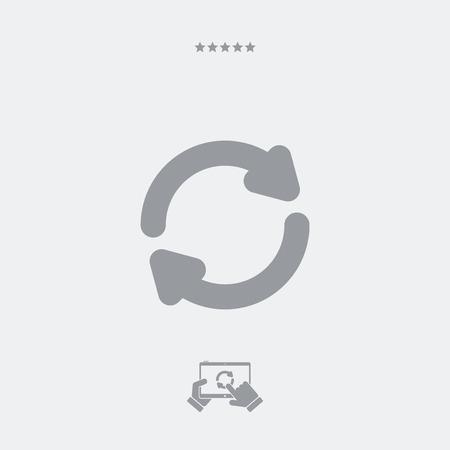 Refresh button flat icon