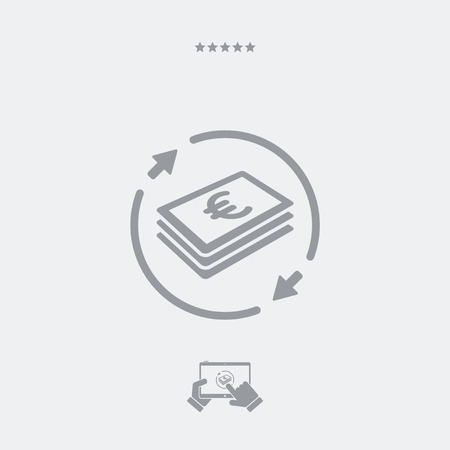 price gain: Money transfer icon - Euro