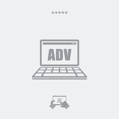 advert: Web advert flat icon