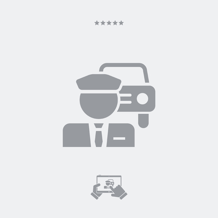 chauffeur: Chauffeur service button icon