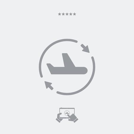 Airline services renew icon Illustration