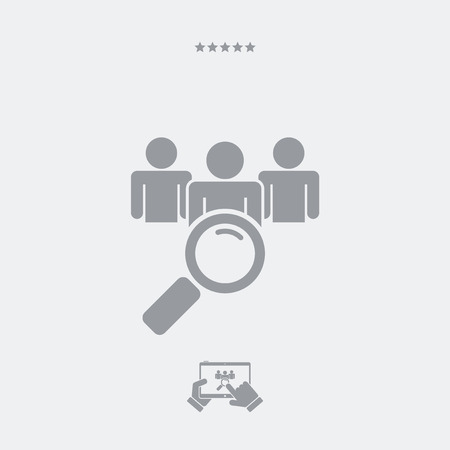 find: Find person flat icon