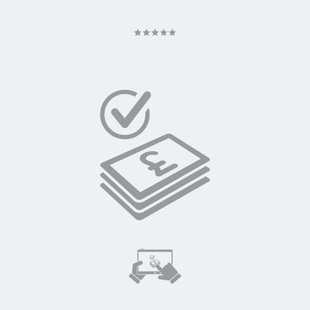 transnational: Checking payment icon - Sterling Illustration
