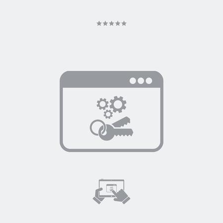 locked: Locked settings flat icon