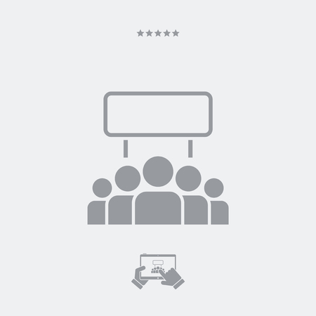 demonstrator: Protest crowd flat icon Illustration