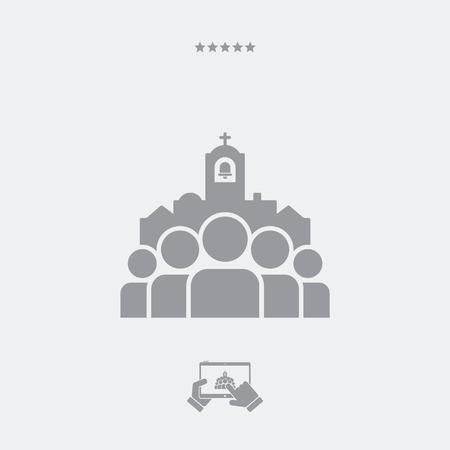 communauté ecclésiale unique icône Vecteurs