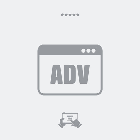 dismiss: ADV window flat icon Illustration