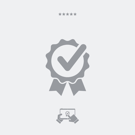 former: Approval check vector icon