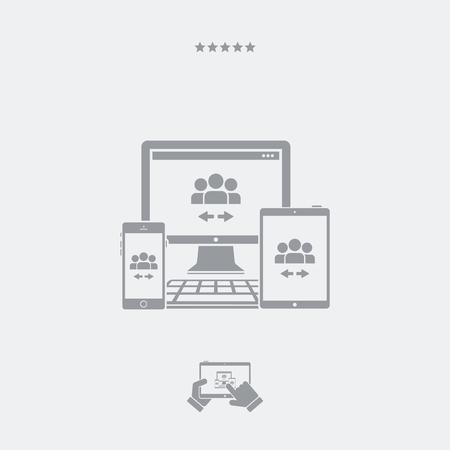 adaptable: People network exchange icon Illustration