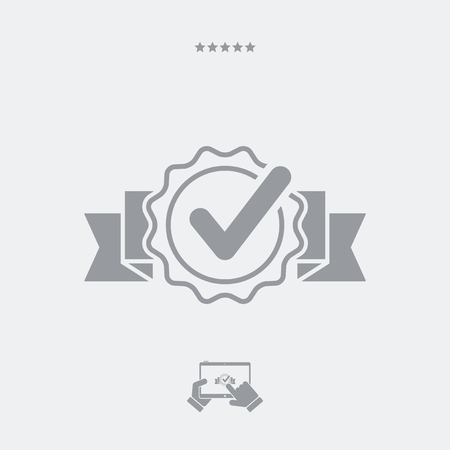 approval icon: Approval check vector icon