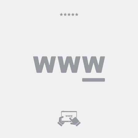 tagging: WWW flat single icon