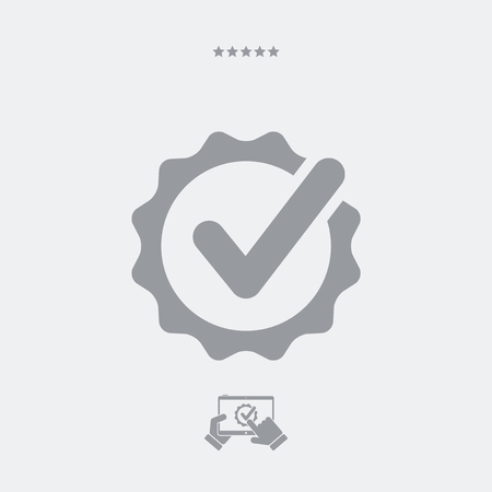 rather: Approval check vector icon