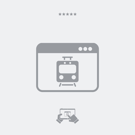 excluding: Train web services icon