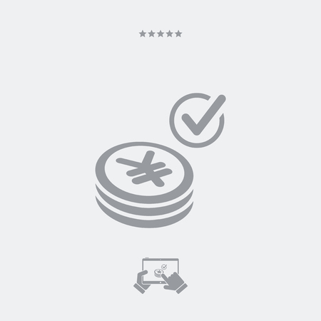 pager: Payment checking icon - Yen