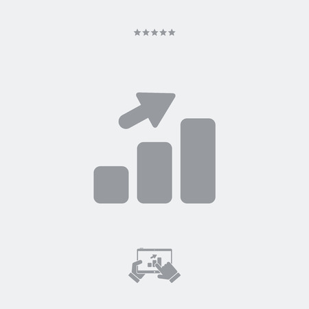 Increasing report flat icon