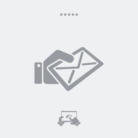 by mail: Get mail flat icon
