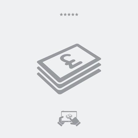 sterlina: icona piatta banconota Sterling