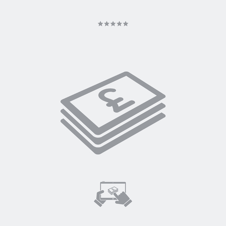 sterling: Sterling banknote flat icon