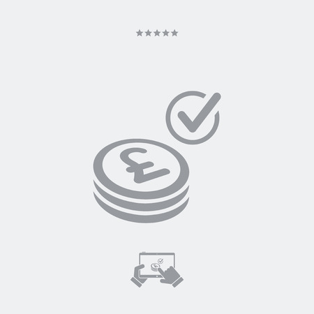 pager: Payment checking icon - Sterling