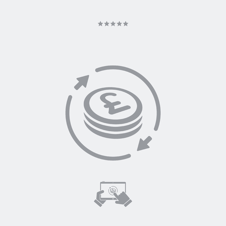 sterling: Money exchange icon - Sterling Illustration