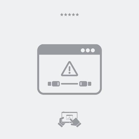 Cable error notice icon Illustration