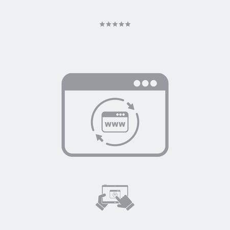 refresh: Refresh internet page icon Illustration