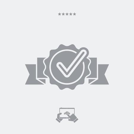 obtain: Checking quality symbol icon Illustration