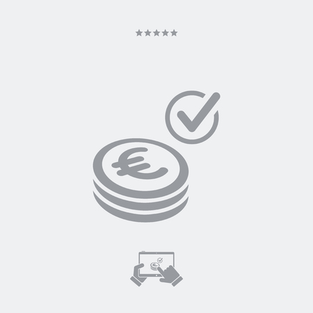 pager: Payment checking icon - Euro