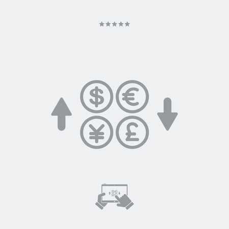 affair: Foreign currency exchange Illustration