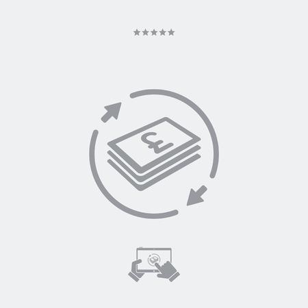 money transfer: Money transfer icon - Sterling Illustration
