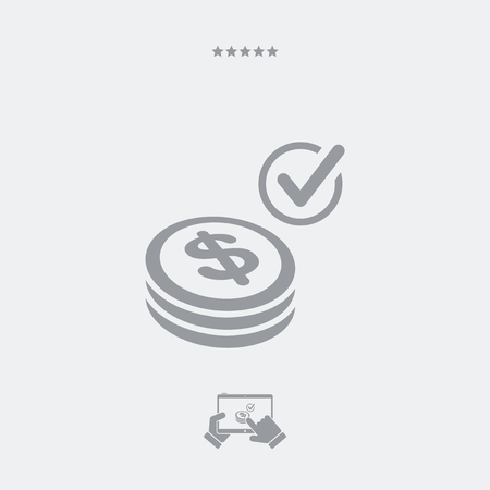 pager: Payment checking icon - Dollars