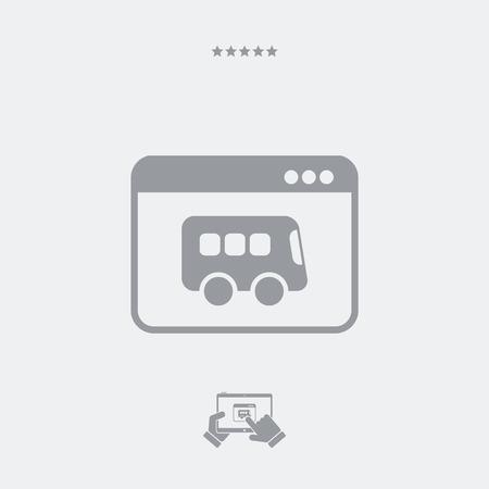 pullman: Bus web service icon Illustration