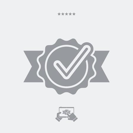 obtain: Approval check vector icon